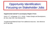 Ch3 Supplement - Stakeholder Jobs