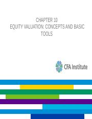 L09_investments_chapter10_equity valuation
