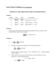 Solutions to Chapter 15