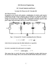 Lecture 16  Power in AC Circuits III