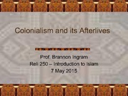 Lecture Notes - Colonialism