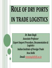 role of dry ports.pdf