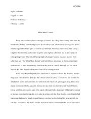 Kindred essay