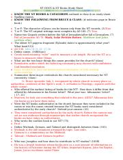 NT DOCS & BOOKS Study Sheet(3) (1).doc