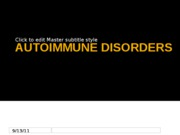 AUTOIMMUNE DISORDERS report
