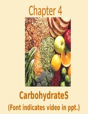 Chapter 4 Carbohydrates.pptx
