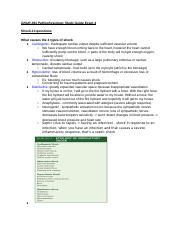 GNUR 293 Pathophysiology Study Guide Exam 4.docx