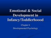 Chapter 6- Emotional & Social Development in Infancy