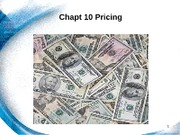 Chapt 10 - Pricing