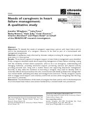 Caregivers in Heart Failure (2015) CI Wingham et al.pdf