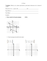 dimensions homework and notes
