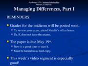 Wk. 6, Lect. 1 - Managing Differences Part I
