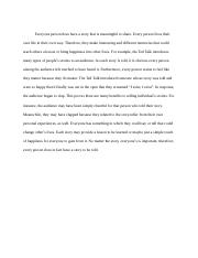Feature Writing - Everyone Has a Story .docx