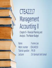 Management Accounting Solutions p9.39