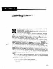 Old Chapter 5 - Market Research
