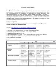 Literature Review Rubric(1)