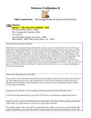 Enlightenment - American Revolution Film Sheet (1)