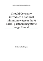 Should germany introduce a national minimum wage or leave social partners negotiable wage floors