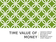 EIB 508 Principles of Finance Lecture 2 Time Value of Money