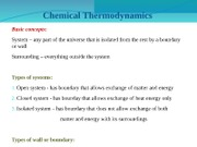Chapter 9 Chemical Thermodynamics