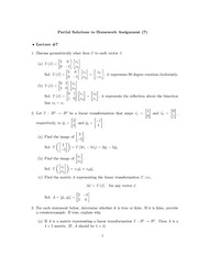 Homework D Solutions on Elementary Linear Algebra