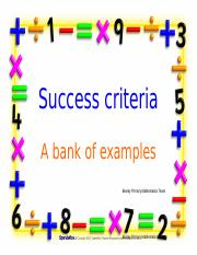 Success_criteria_bank_of_examples