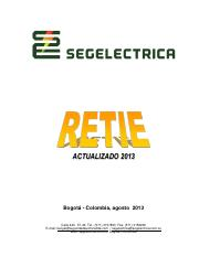 RESOLUCIÓN Y ANEXO GENERAL RETIE 2013