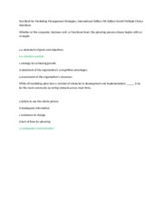 Test Bank for Marketing Management Strategies 8.doc