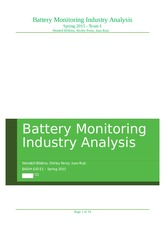 Team 1 - Battery Monitoring Industry Analysis