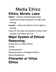 Day 13 Media Ethics Exam 3