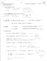 Antiderivatives Outline