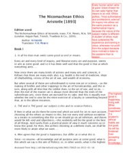 Aristotle NE Doctrine of Mean