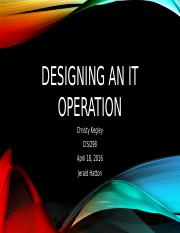 Designing an IT Operation