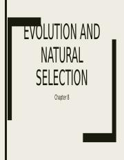 8. Evolution and Natural Selection