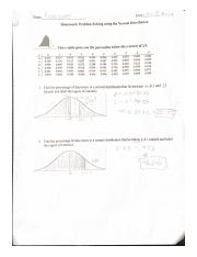 problem solving using the normal distribution HW.pdf