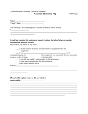Creating an Academic Dishonesty Slip-EDU 521