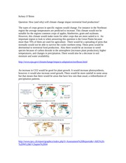O'Brien_Ecology Hw Climate Change