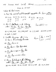 Exam 1 Solution Summer 2014 on Calculus 1