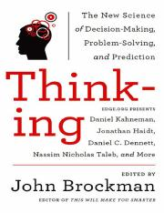 Thinking - The New Science of Decision Making, Problem Solving & Prediction - John Brockman.pdf