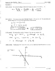Math 111 Test 1 2009 Solutions