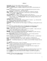 Vocabulary of Units 11 & 12