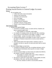 Accounting Notes Lecture 7