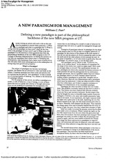 Parr - A new paradigm for management