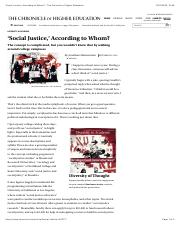 'Social Justice,' According to Whom_ - The Chronicle of Higher Education.pdf
