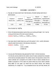 lab report introduction chemistry