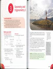 Ch. 3 - Geometry and Trigonometry 1