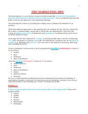 MKT 100 PRINCIPLES OF MARKETING Notes.doc