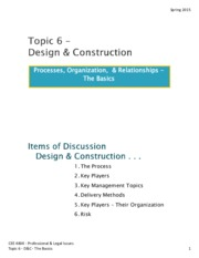 Design and Construction Lecture