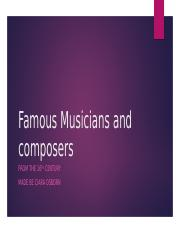 Famous Musicians and composers