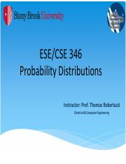 Probability Part II -  Distributions - NOTES